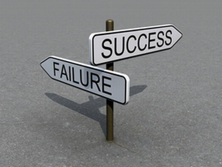 Small success - Failure regret signs