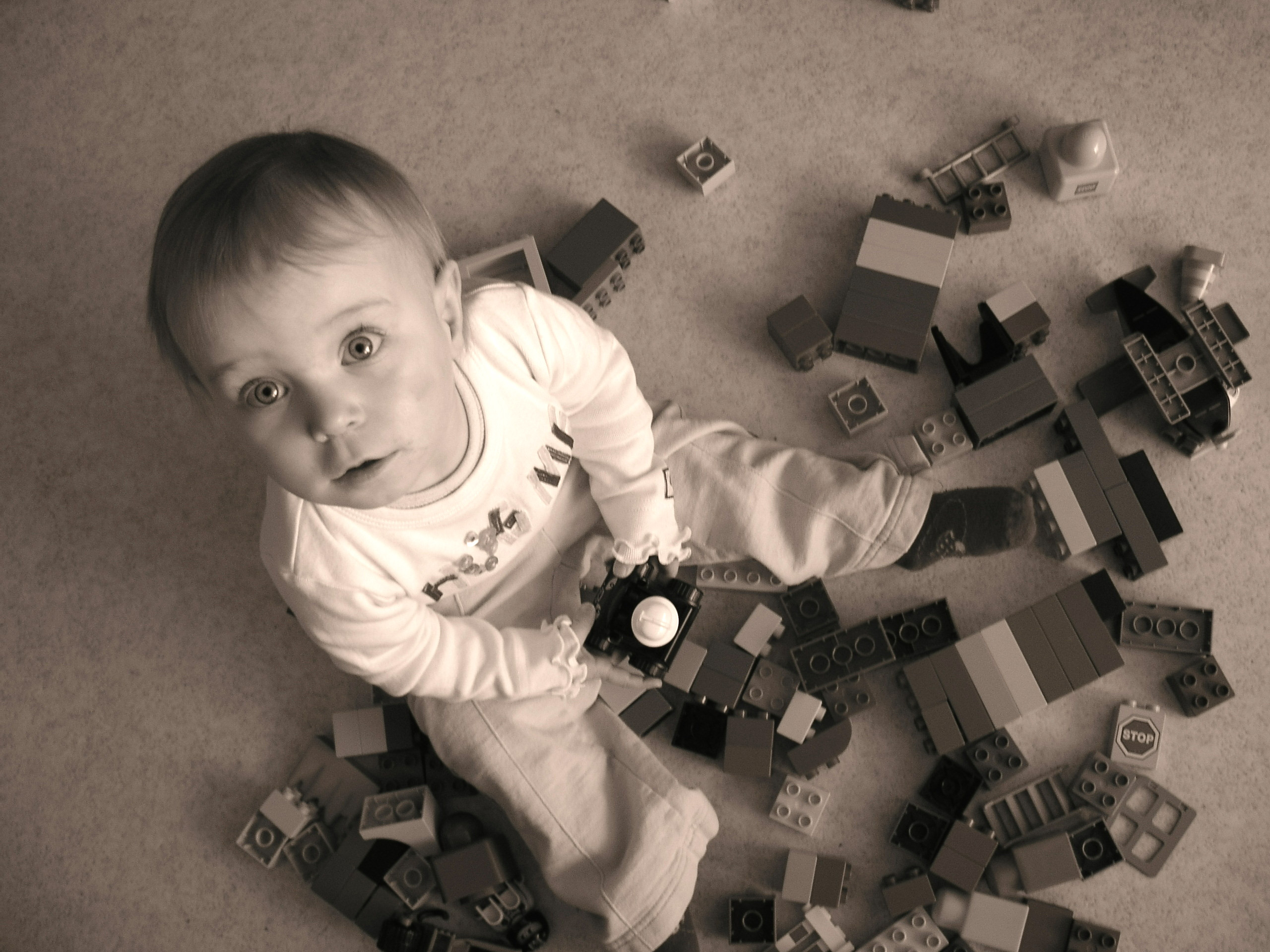 Creativity child with blocks