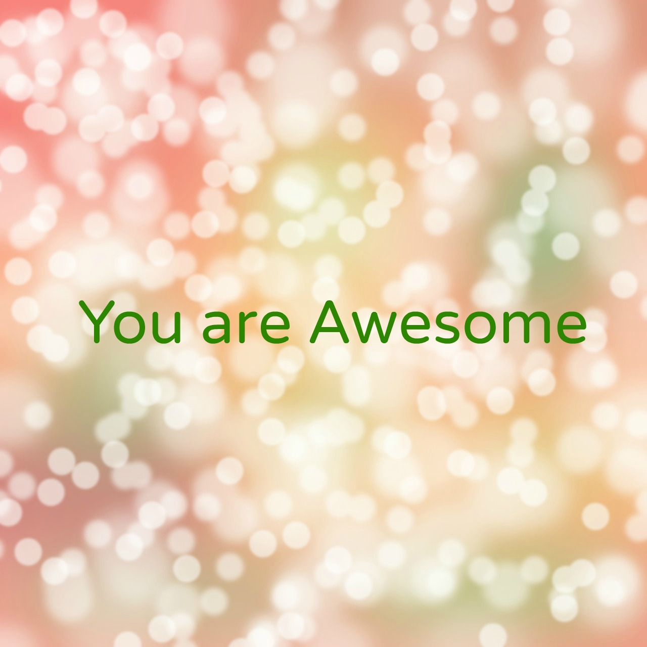 You are Awesome graphic