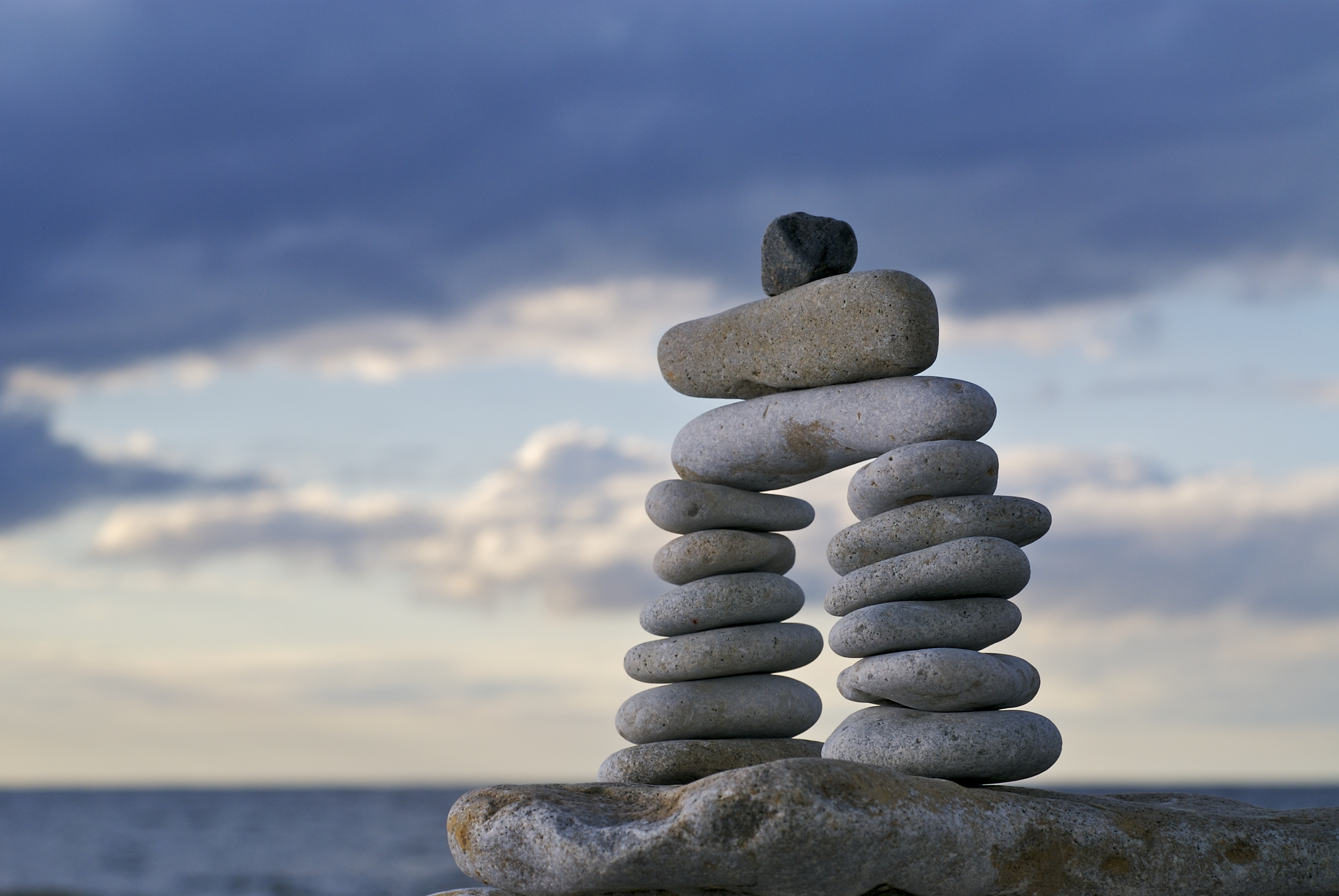Staying grounded -- rock tower