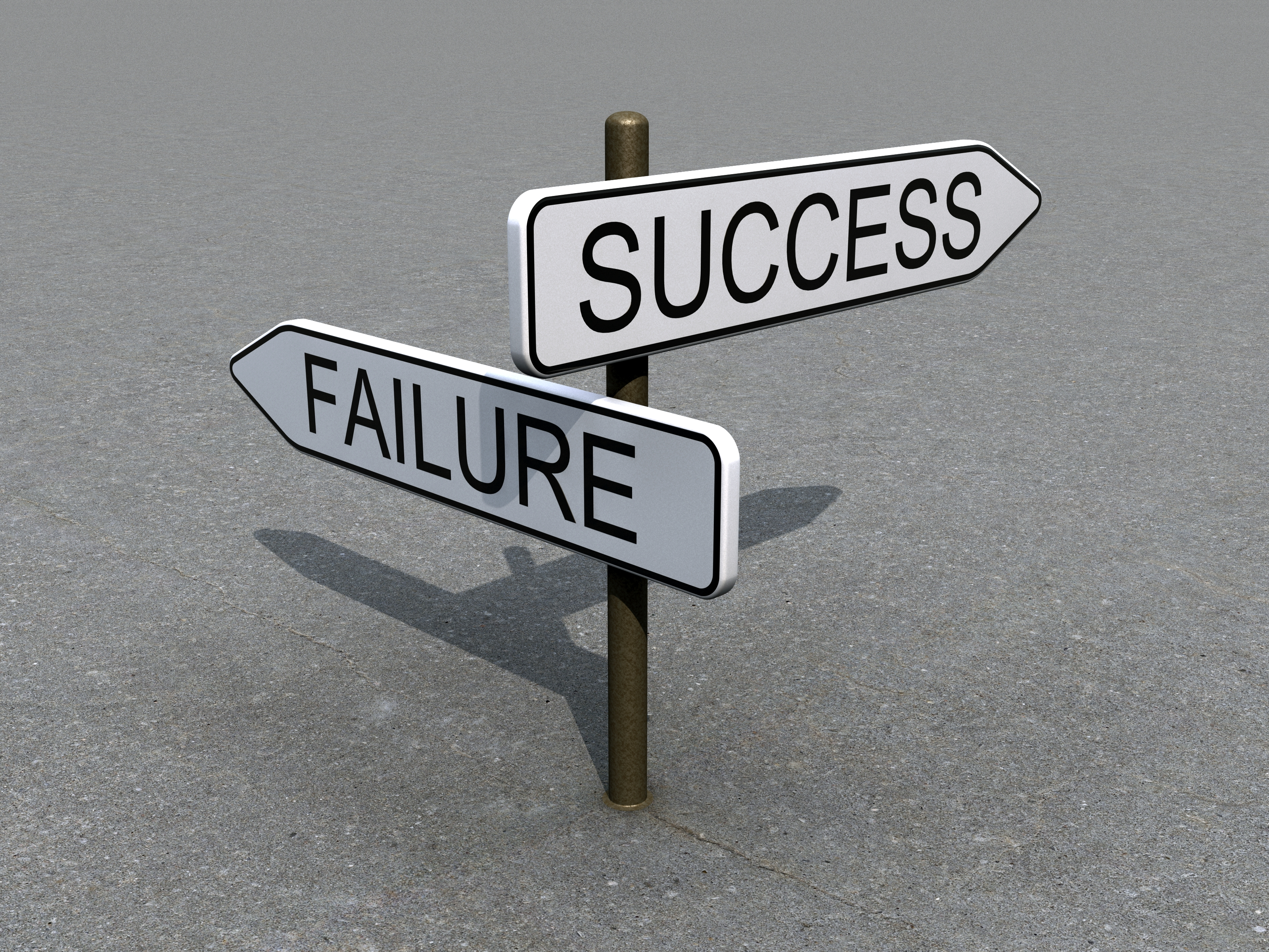 Success - Failure regret signs